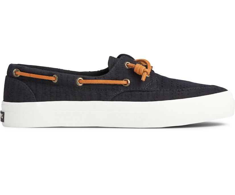 Crest Boat Smocked Hemp Sneaker, Black, dynamic