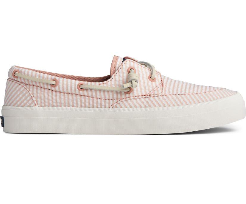 Crest Boat Seersucker Sneaker, Coral/White, dynamic