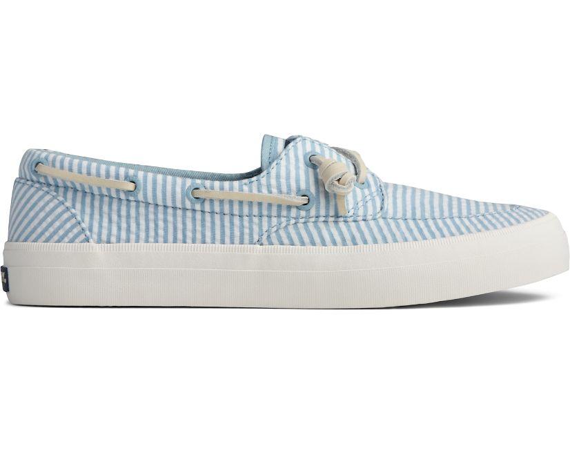 Crest Boat Seersucker Sneaker, Blue/White, dynamic