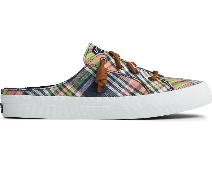 Crest Vibe Washed Plaid Mule Sneaker, Kick Back Plaid, dynamic