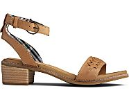 Seaport Ankle Strap City Sandal, Tan, dynamic