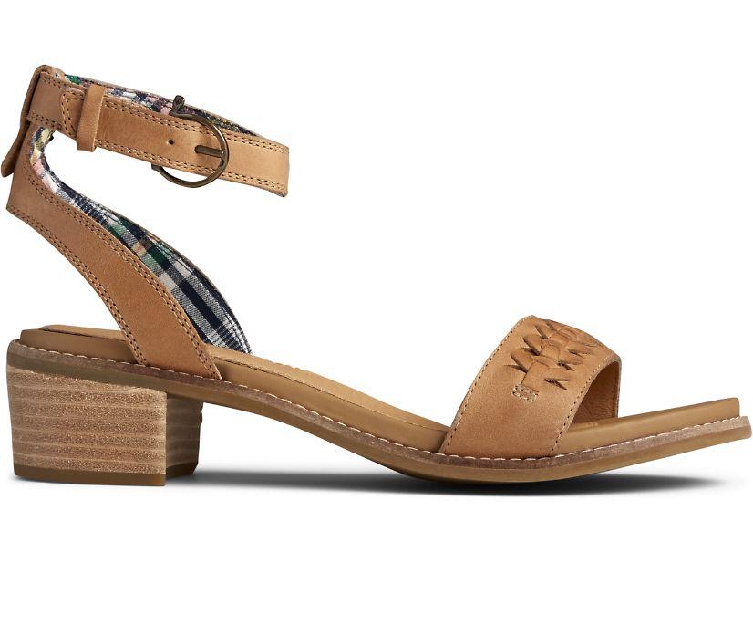 Seaport Ankle Strap City Sandal, Tan, dynamic