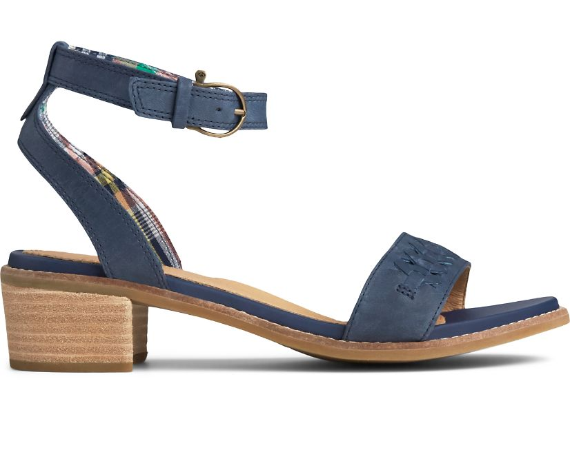 Seaport Ankle Strap City Sandal, Navy, dynamic