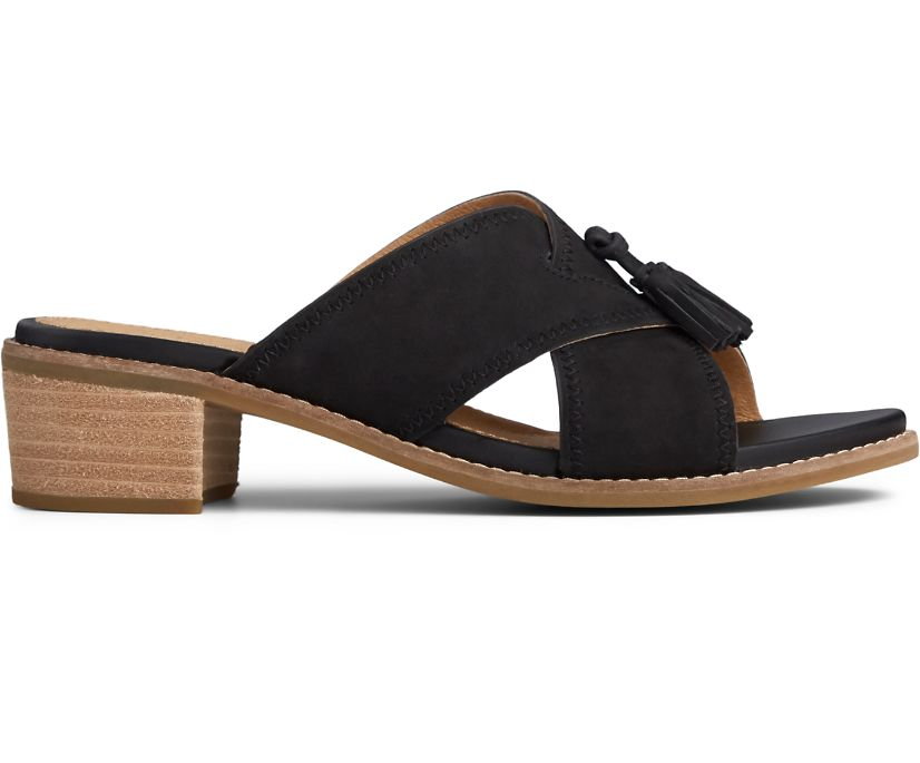 Seaport Tassel City Sandal, Black, dynamic