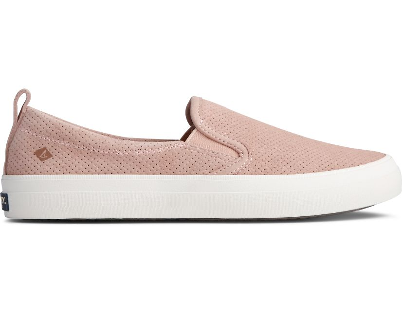 Crest Twin Gore PLUSHWAVE Pin Perforated Sneaker, Rose Dust, dynamic