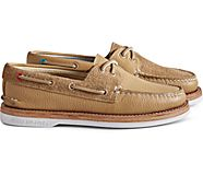Cloud Authentic Original 2-Eye Suede Boat Shoe, Tan, dynamic