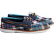 Cloud Authentic Original Plaid Boat Shoe, Black/Multi, dynamic