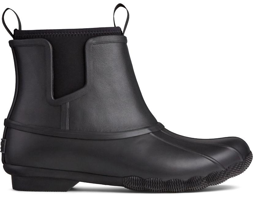 Saltwater Chelsea Rain Boot, Black/Black, dynamic