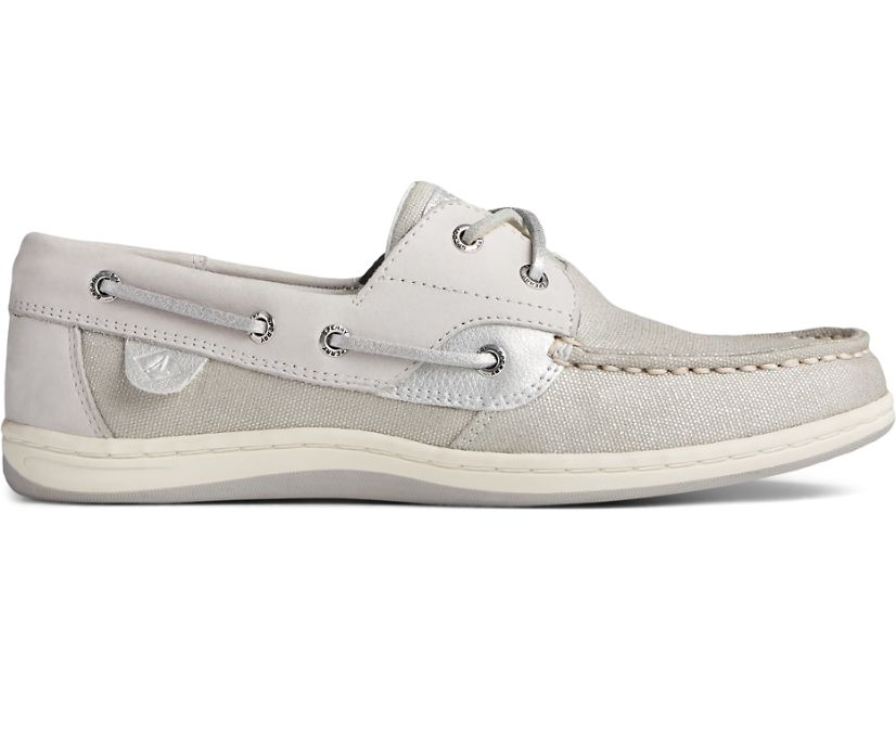 Koifish Sparkle Textile Boat Shoe, Grey/Silver, dynamic