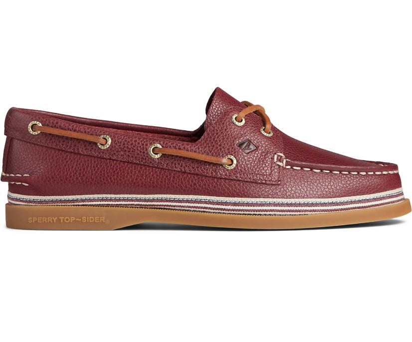 Authentic Original Tumbled Leather Boat Shoe, Cordovan, dynamic