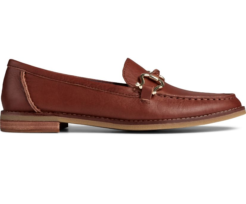 Seaport Penny PLUSHWAVE Shackle Leather Loafer, Tan, dynamic