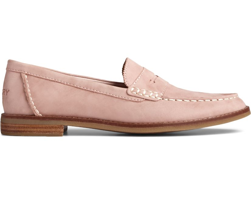 Seaport Penny Starlight Leather Loafer, Blush, dynamic