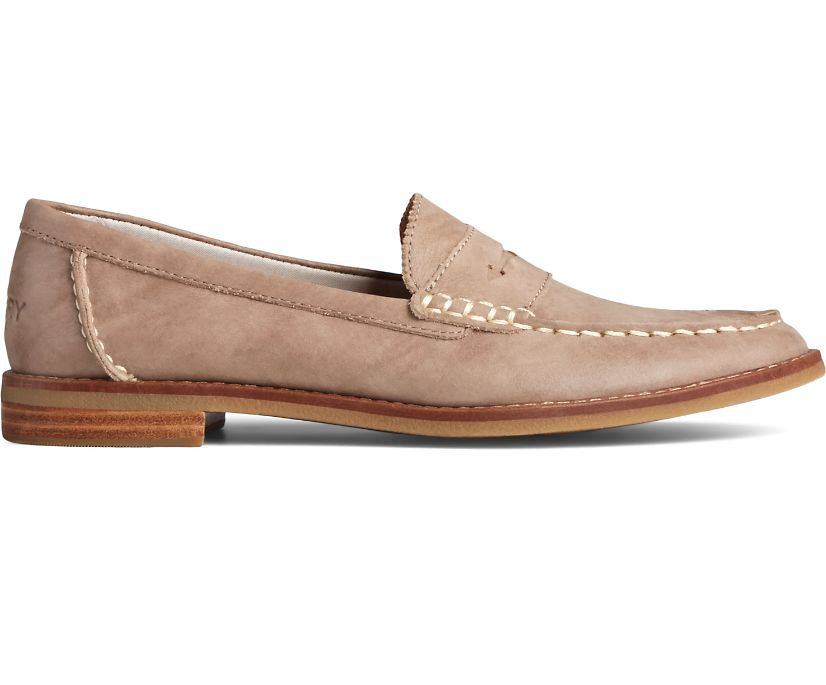 Seaport Penny Starlight Leather Loafer, Dove, dynamic