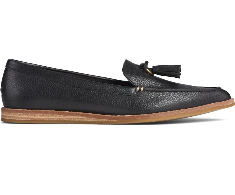 Saybrook Slip On Tumbled Leather Loafer, Black, dynamic