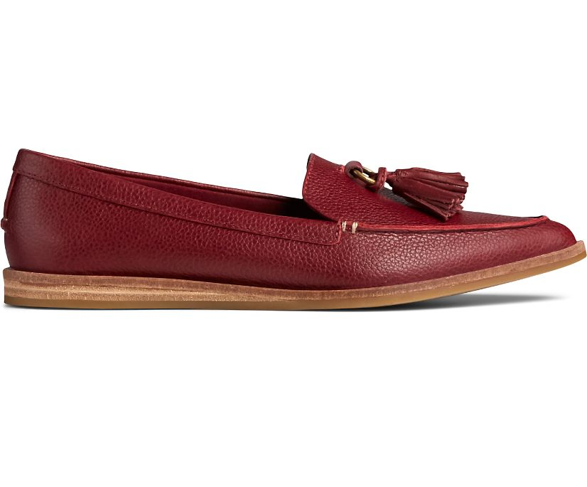 Saybrook Slip On Tumbled Leather Loafer, Cordovan, dynamic