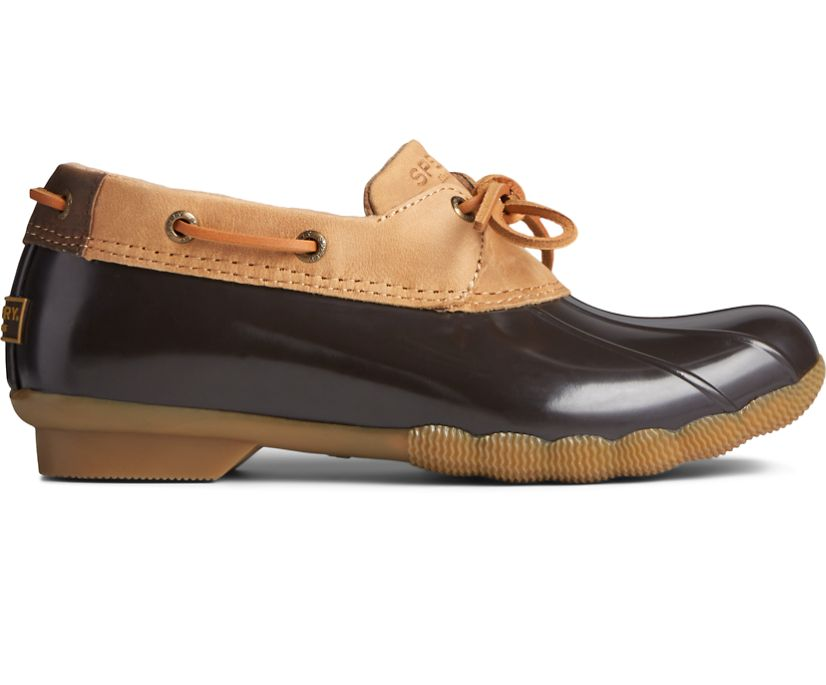 Saltwater 1-Eye Leather Duck Boot, Tan/Brown, dynamic