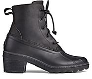 Saltwater Heel Leather Duck Boot, Black, dynamic