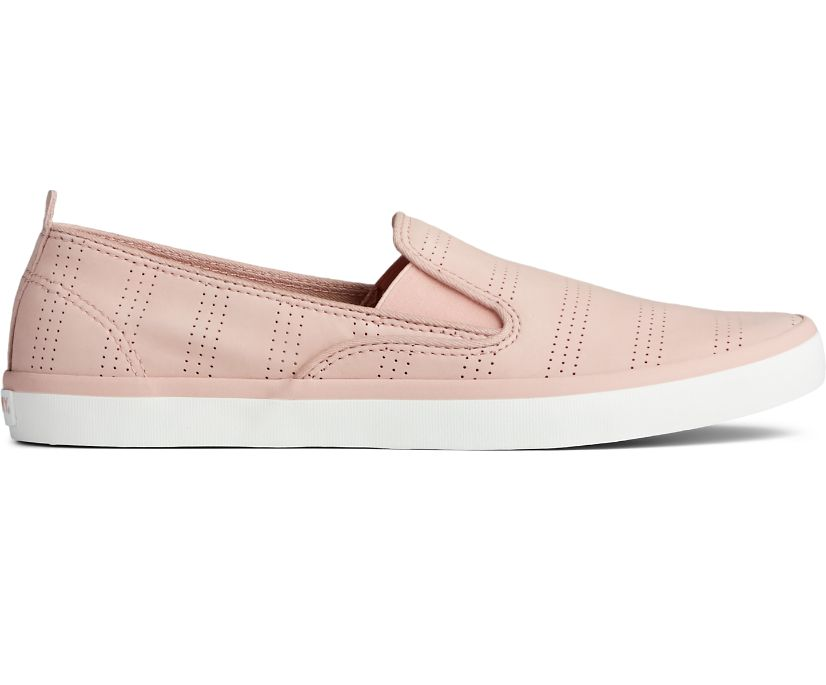 Sailor Twin Gore Perforated Slip On Sneaker, Blush, dynamic