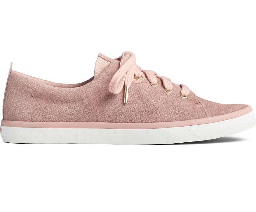 Sailor Serpent Leather Sneaker, Blush, dynamic