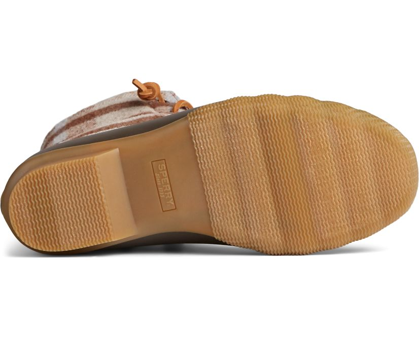 Saltwater Wool Plaid Duck Boot, Brown/Oat, dynamic