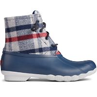 Sperry Womens Saltwater Wool Plaid Duck Boot