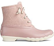 Saltwater Serpent Leather Duck Boot, Blush, dynamic