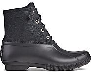 Saltwater Serpent Leather Duck Boot, Black, dynamic