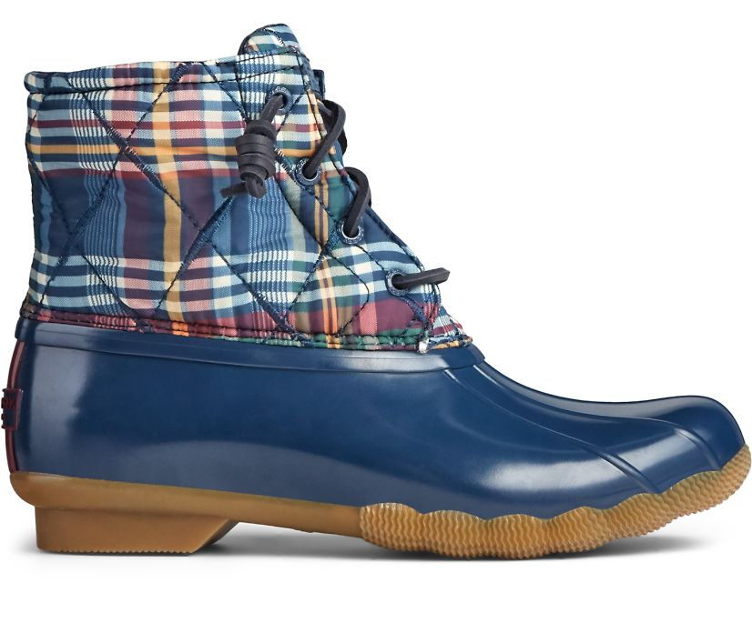 Saltwater Nylon Quilted Duck Boot, Plaid Multi, dynamic