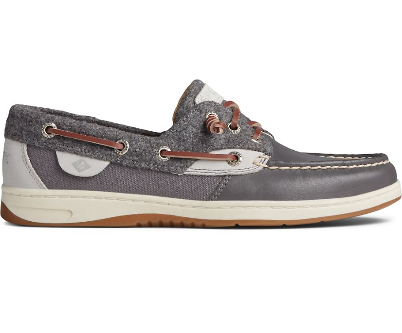 Rosefish Wool Boat Shoe, Smoked Pearl, dynamic