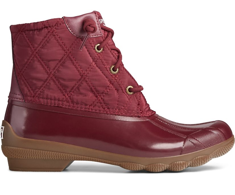 Syren Gulf Quilted Nylon Boot, Cordovan, dynamic