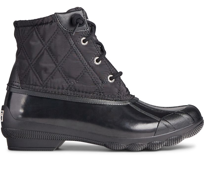 Syren Gulf Quilted Nylon Boot, Black, dynamic