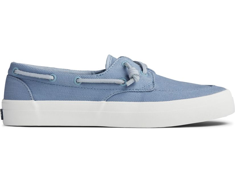 Crest Boat Seasonal Twill Sneaker, Sky Blue, dynamic