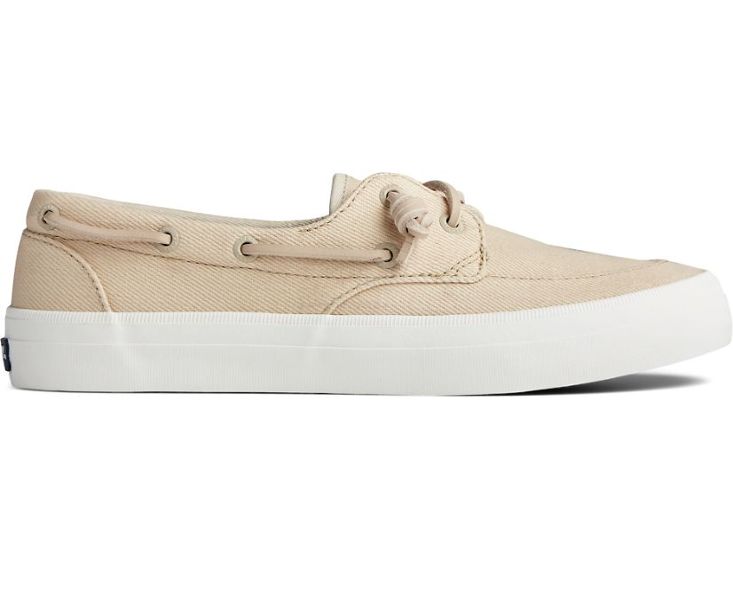 Crest Boat Seasonal Twill Sneaker, Natural, dynamic
