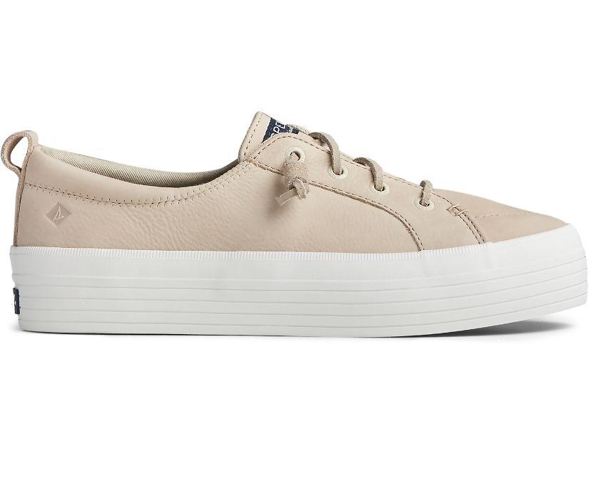 Crest Vibe Platform Leather Sneaker, Natural, dynamic