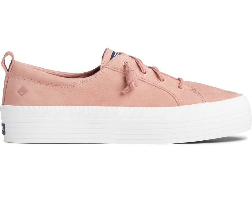 Crest Vibe Platform Leather Sneaker, Dusty Rose, dynamic