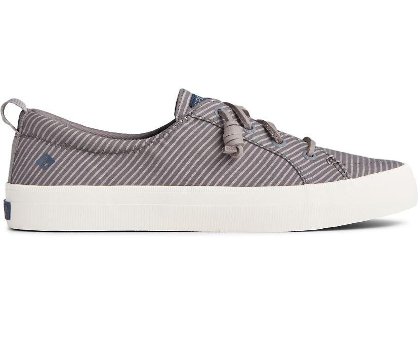 Crest Vibe Denim Stripe Sneaker, Grey, dynamic