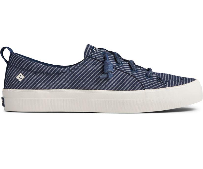 Crest Vibe Stripe Textile Sneaker, Navy, dynamic