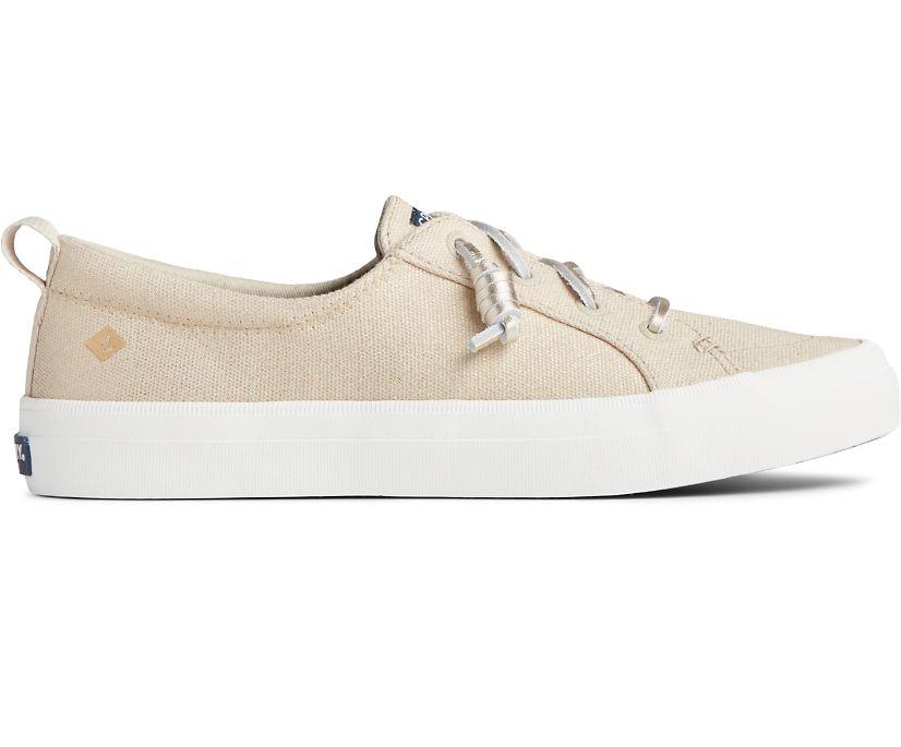 Crest Vibe Textile Sparkle Sneaker, Gold, dynamic