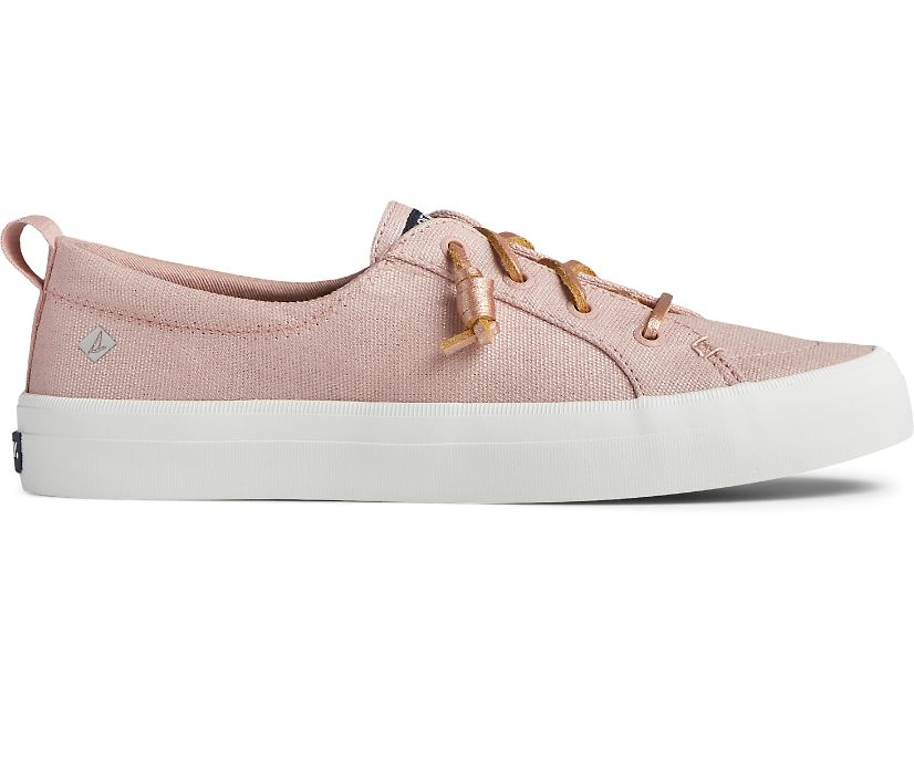 Crest Vibe Textile Sparkle Sneaker, Blush, dynamic