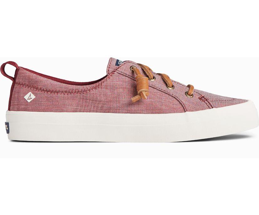 Crest Vibe Two Tone Chambray Sneaker, Cordovan, dynamic