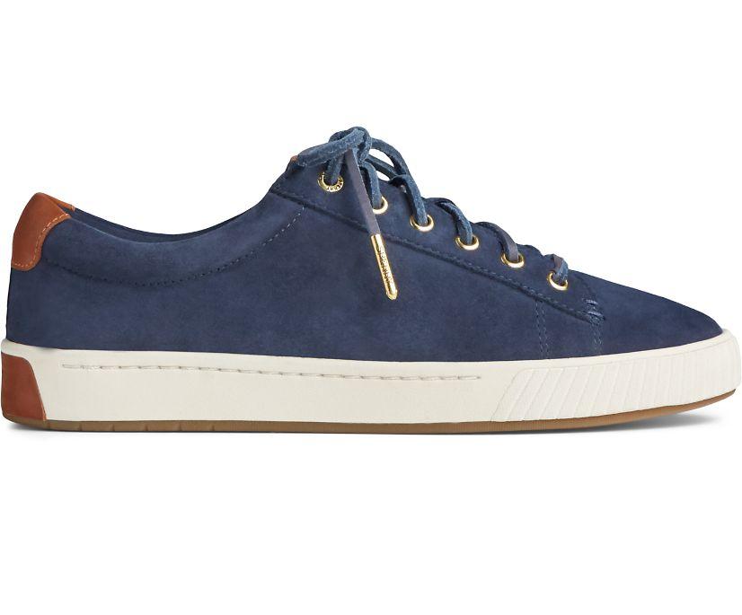 Anchor PLUSHWAVE Suede Sneaker, Navy, dynamic