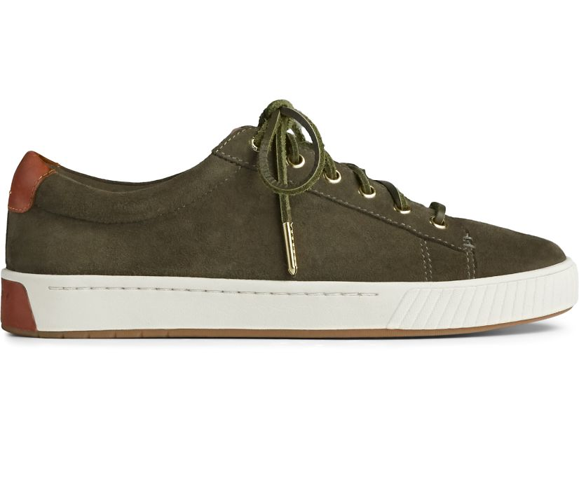 Anchor PLUSHWAVE Suede Sneaker, Olive, dynamic