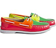 Cloud Authentic Original 2-Eye Boat Shoe, Neon Multi, dynamic