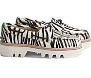 Cloud Authentic Original 2-Eye Lug Boat Shoe, White Tiger, dynamic