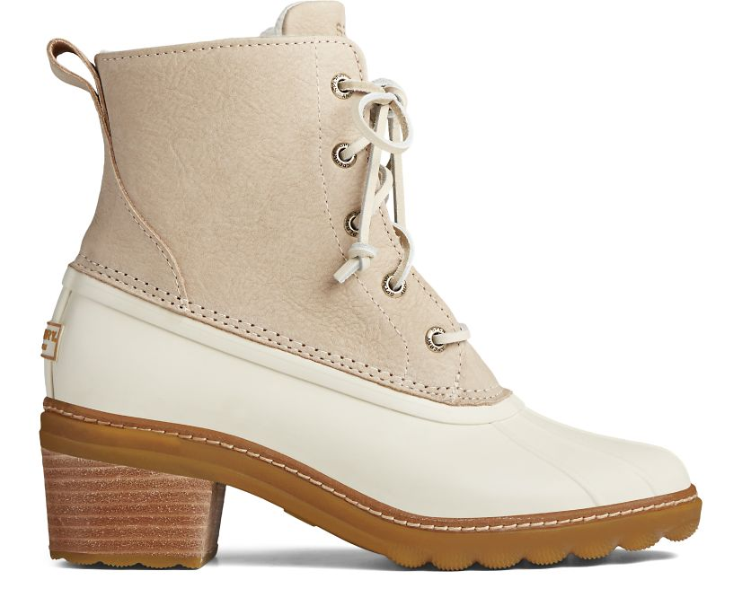 Saltwater Heel Leather Duck Boot, Ivory, dynamic