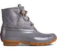 Saltwater Nylon Quilted Duck Boot, Grey, dynamic