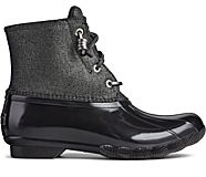 Saltwater Sparkle Duck Boot, Black/Silver, dynamic
