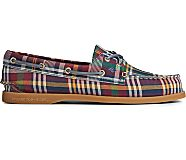 Authentic Original Plaid Textile Boat Shoe, Plaid, dynamic
