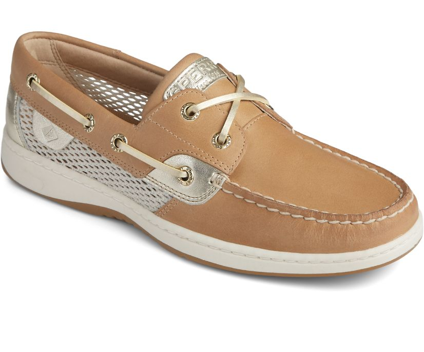Bluefish Open Mesh Boat Shoe, Linen, dynamic