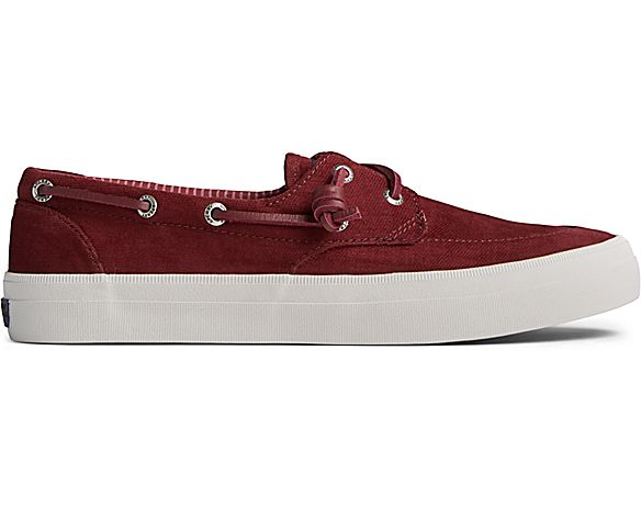 Crest Boat Brushed Canvas Sneaker, Cordovan, dynamic